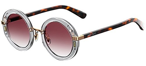 Jimmy Choo sunglasses (GEM-S 2KQ/FW) Transparent Crystal - Silver - Plum Gradient ()