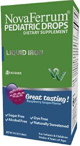 NovaFerrum Pediatric Drops Liquid Iron Supplement for Infants and Toddlers 120 mL