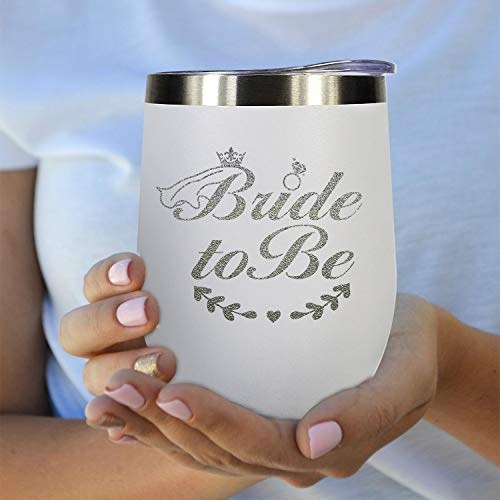 Bridal Shower Gifts, Engagement Gifts Wedding Bride To Be Bachelorette Wine Glasses 12 oz Stainless Steel