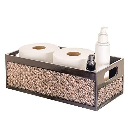 Dublin Bathroom Decor Box Toilet Paper Storage Basket – Decorative Bathroom Storage Toilet Tank Topper – Bathroom…