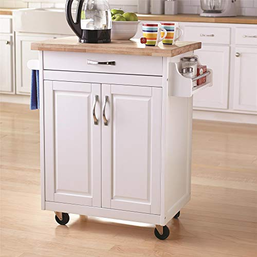 Dorel Living Kitchen Island, White