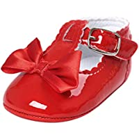 HTHJSCO Baby Boys Girls Soft Soled Tassel Bowknots Crib Shoes PU Moccasins