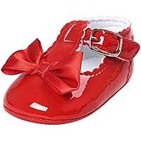 HTHJSCO Baby Boys Girls Soft Soled Tassel Bowknots Crib Shoes PU Moccasins