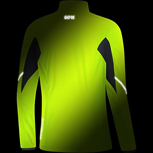 Gore Women's R3 Wmn Partial Gws Jacket, neon Yellow/Black, M by GORE WEAR (Image #4)