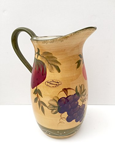 Tuscany Mixed Fruit Ceramic Water Pitcher