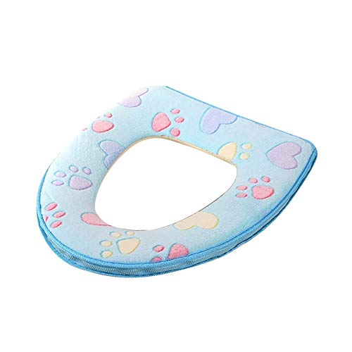 WOCACHI Toilet Seat Cover Pads Cat Paw Print Zipper for sale  Delivered anywhere in Canada