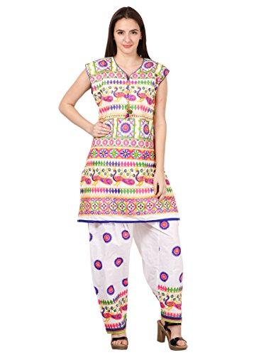saadgi Women's Gujrati Rajasthani Ethnic Style Kurta and Salwar Set ()