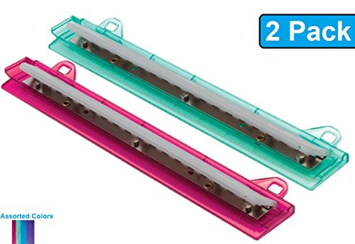 1InTheOffice Binder 3 Hole Punch, Assorted Colors