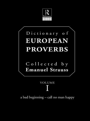 Download Dictionary of European Proverbs Pdf