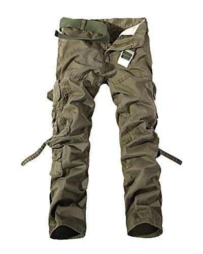 Multi Combat Arméevert Unie Style Pantalons poches Militaire Travail Grande Homme Taille Loisir Cargo Pantalon Couleur De qXZxFt