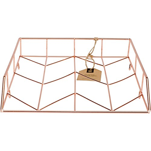 U Brands Desktop Letter Tray, Wire Metal, Copper/Rose Gold by U Brands LLC