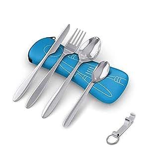 Amazon.com: Juego de 5 piezas de utensilios de viaje, de ...