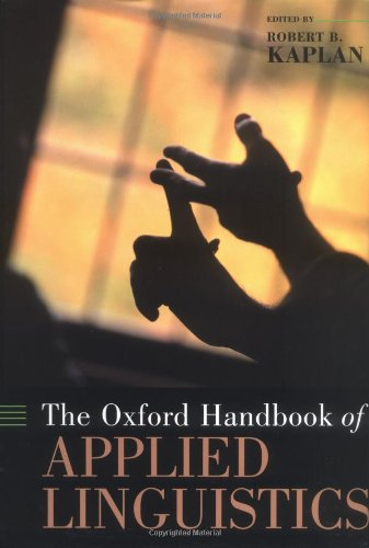 The Oxford Handbook of Applied Linguistics Oxford Handbooks ...