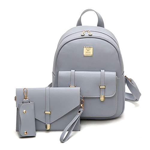 sacs dos Mode dos les sac de pour mignon d'école voyage sac femmes à en dos PU sac à adolescentes Set cuir à 3pcs OSOxZw