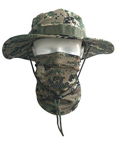 QMFIVE Écharpe tactique camouflage, hommes et femmes unisexe multi-usages bandeau militaire style tête wrap face mesh… 3