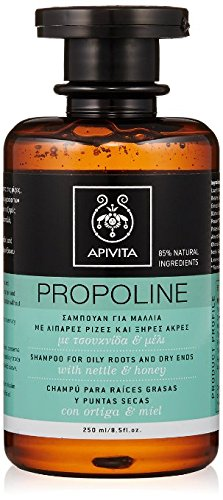 2 X Apivita Propoline Shampoo For Oily Roots and Dry Ends (2 Bottles x 8.5 fl oz. each one) by Apivita