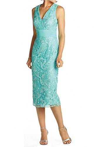 V Glamour Brautmutterkleider Knie Abendkleider Charmant Lang Spitze Damen Rosa Ballkleider Ausschnitt Bolero mit Hell BFwExpUq
