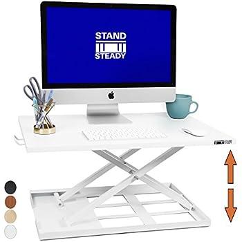 Amazon Com Height Adjustable Standing Desk Converter
