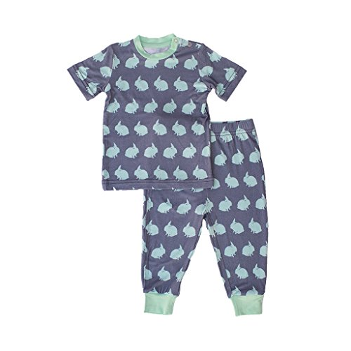 Kozi & Co. Girls & Boys Toddler Short Sleeve Pajama Set Bunny Hop 2T