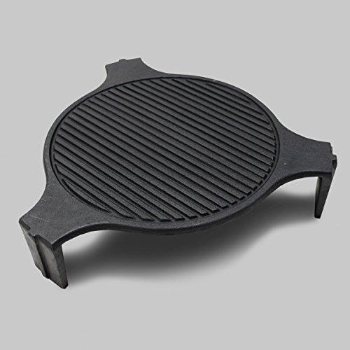 SmokeWare Cast Iron Plate Setter - Fits LARGE Big Green Egg Big Green Egg Plate Setter