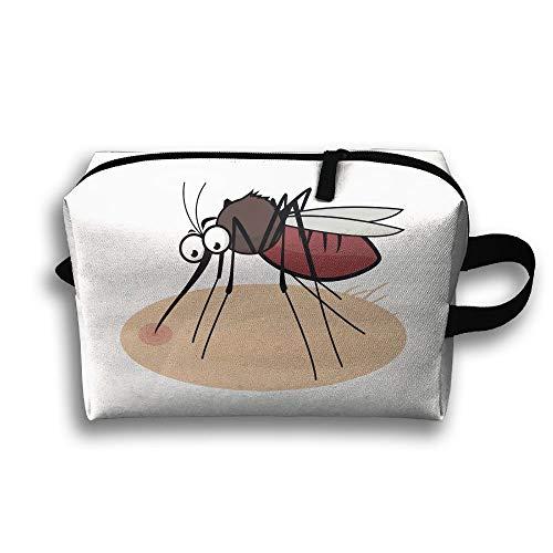 Travel Cosmetic Bag Mosquito Drink Blood Unisex Makeup Bag Zipper Wallet Hangbag Wristlet Holder