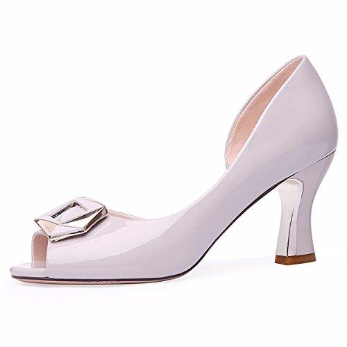 Cm Delgado Medio black Zapatos Sandalias Alto Zapatos Zapatos Tacon Gato Boca Zapatos 7 GTVERNH Y Pescado Tacones Verano De Bocas De Shallow Tacones De Mujer Mujer Zapatos aFPwxTq