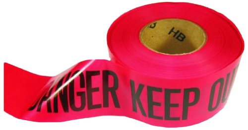 L.H. Dottie BT49 Barricade Tape, Danger Keep Out, 3-Inch Width by 1000-Feet Length, Red