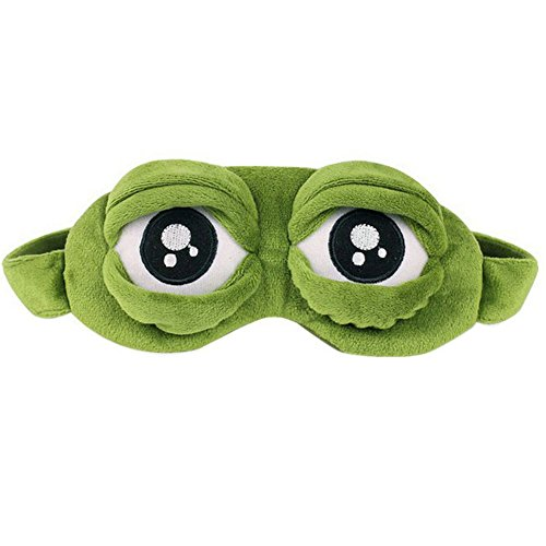 Ayygiftideas Creative Cartoon Frog Eye Mask Fluff Cute Sleep
