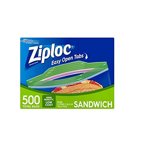 Ziploc Sandwhich zLryEM Bag, 150 Bags (Pack of 4)