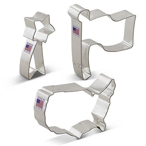 Flag Cookie Cutter - Ann Clark Independence Day Patriotic Cookie Cutter Set