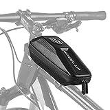 Elegant Choise Bicycle Frame Bag, Waterproof Bike Top Tube Bag Front Bike Bag with Double Zipper Large Capacity 9.4x3.9x3.1 inch