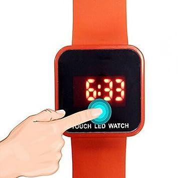 fenkoo Hombre/Mujer/Niños/Unisex Mode Reloj digital LED/Noche leuchtend Caucho Banda Cómodo Negro/Blanco/Azul/Rojo/Verde Marca, rojo: Amazon.es: Deportes y ...