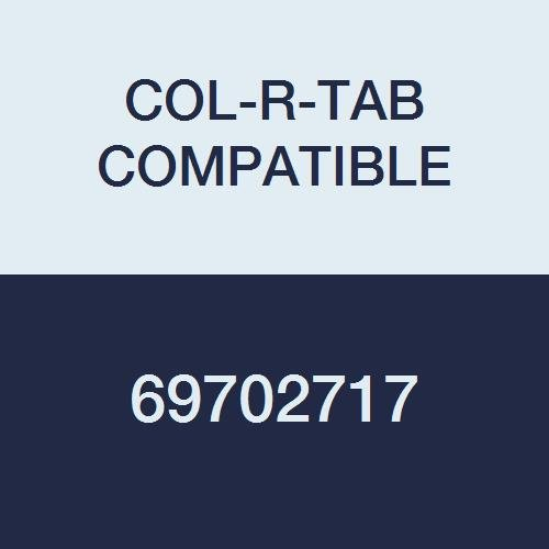 COL-R-TAB COMPATIBLE 69702717 12000 Color Code Alpha''A'' Label, 1-1/2'' x 1'', Light Blue Mylar Permanent (Pack of 126)