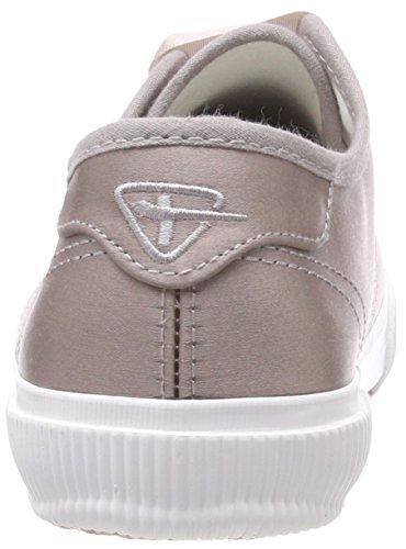 Satin Tamaris 23610 Basses Femme Sneakers Argent pewter zgz7aw