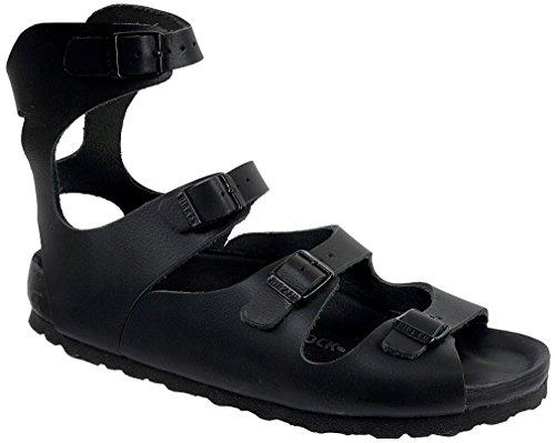 Birkenstock Athens Sandalo In Pelle Nera Eu 40 Stretto