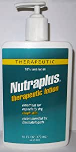 Nutraplus Therapeutic Lotion, 10% Urea Lotion Emollient for Especially Dry, Rough Skin 16 Ounces