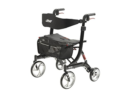 Drive Medical Heavy Duty Nitro Euro Style Walker Rollator, Black by Drive Medical (Image #1)