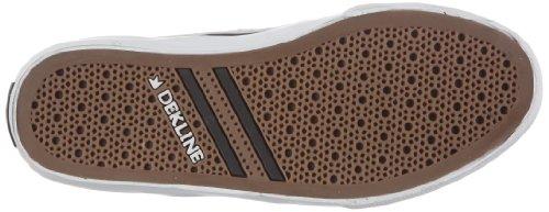 mixte 602072 Harper adulte Canvas Dekline Chaussures bg tr Blanc de skateboard YqEwd