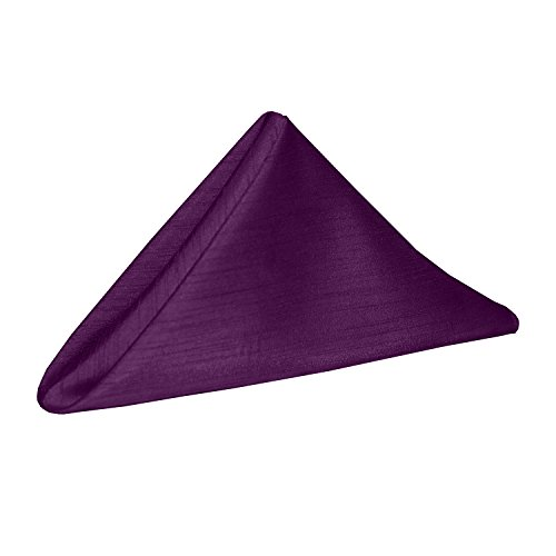 41b0LaeZ5tL - Ultimate Textile (10 Dozen) Reversible Shantung Satin - Majestic 20 x 20-Inch Cloth Dinner Napkins - for Weddings, Home Parties and Special Event use, Plum