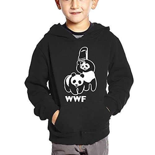WWF Funny Panda Bear Wrestling Cotton Pullover Hoodie Sweatshirts For Unisex Children's Hoody by Cztdo Ouybn