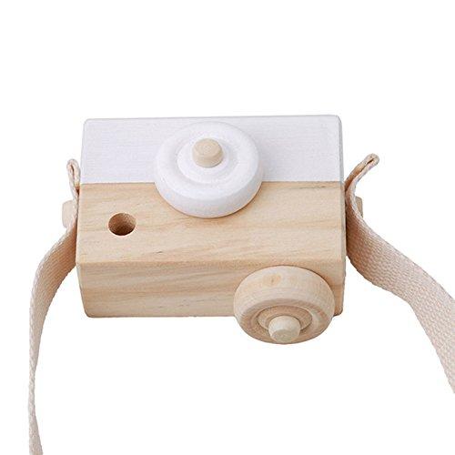 XABegin Unisex Baby Cartoon Wooden Camera Toy Kid's Room Decor