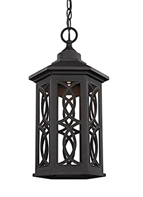 Sea Gull 6217091S-12 Ormsby Outdoor Pendant, 1-Light LED 14 Watts, Black