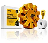 VViViD Rubber Eraser Wheel 4 Inch Diameter 7/8 Inch Thick Decal Remover Pad Including Drill Adapter