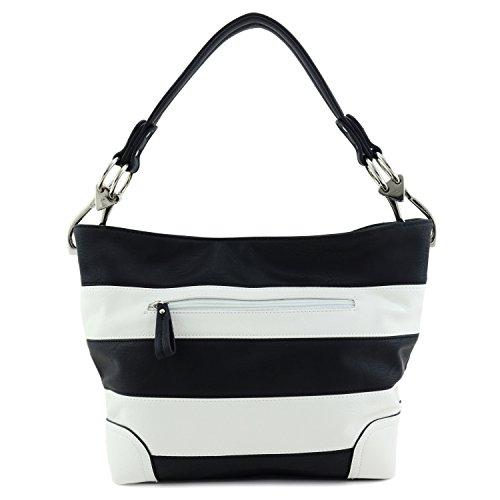Snap white With Hobo Hardware Black Big Shoulder Bag Hook wx4aR4C