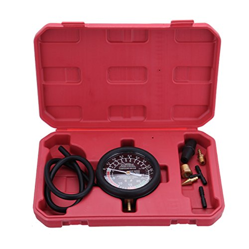 Iglobalbuy Carburetor Carb Valve Fuel Pump Pressure & Vacuum Tester Gauge Test Kit
