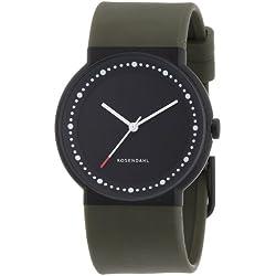 Rosendahl Men's Watch Iv Analog Black IpCoating Case With Black Dial