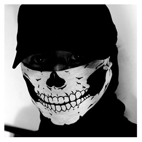 new Skeleton Ghost Skull Face Mask Biker Balaclava Call of Duty COD Costume Game ()
