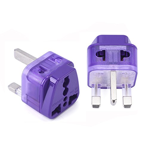 Malawi Housing (Wonpro Grounded 2 in 1 Travel Plug Adapter Type G for UK, Ireland, Singapore, Malaysia - CE Certified - 2 Pack)