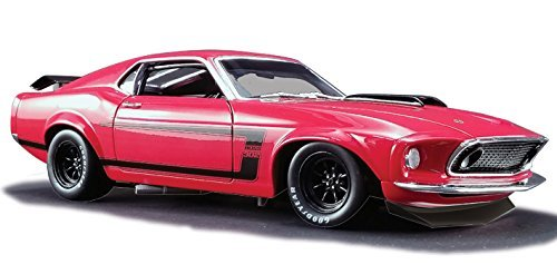 1969 Ford Mustang Boss 302 Trans Am Red Street Version Limited Edition 1/18 Diecast Model Car Acme A1801820 B - 1969 Ford Mustang Boss 302