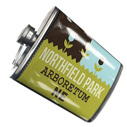 Light Northfield One (NEONBLOND Flask US Gardens Northfield Park Arboretum - NE Hip Flask PU Leather Stainless Steel Wrapped)